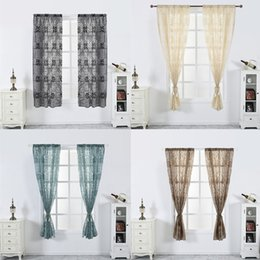 $enCountryForm.capitalKeyWord NZ - Feiqiong Sweet Peony Flower Window Curtain 2019 Semi-blackout Sheer Divider Panel Window Blind Living Room Bedroom Curtain New