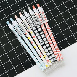 $enCountryForm.capitalKeyWord Australia - 4PCS lot Simple Watercolor Dots Stripe Press Mechanical Pencil School Office Supply Student Stationery 0.5mm