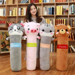 $enCountryForm.capitalKeyWord NZ - Dorimytrader new animals sleeping pillow long strip pillows doll cartoon toys bed cushion for children gift deco 90x40cm DY50543