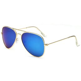 Chinese  Brand designer brand new classic aviator sunglasses fashion women's sunglasses vassl uv400 matte gold frame green mirror lens wholesale manufacturers