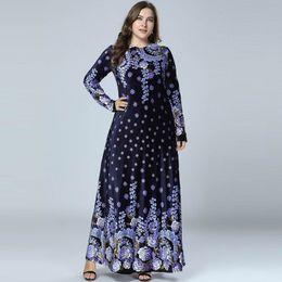 $enCountryForm.capitalKeyWord Australia - Abaya Muslim Hijab Dress Arabic Abayas Print Velvet Pakistani Dubai Islamic Clothing Navy Blue Vestidos Musulmanes Morocco Dress