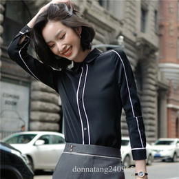 $enCountryForm.capitalKeyWord Australia - Summer Women Tops Long Sleeve Casual Blouse Female Formal Work Wear Solid Color White Office Shirts For Women Shirt