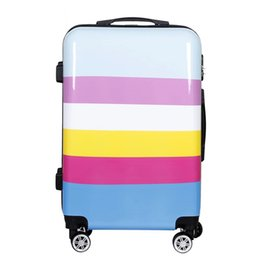 suitcase 24 Australia - New fashion trolley suitcase carry on travel valise bag quality luxury rolling luggage boarding password pc cute box 20 24 inch