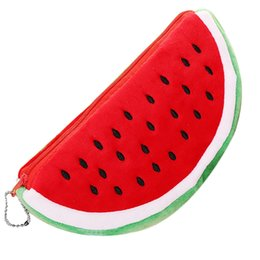 watermelon cosmetic bags cases Australia - 1 Pc Newest Practical Big Volume Watermelon Fruit Kids Pencil Bag Case Gift Cosmetics Purse Wallet Holder Pouch School Supplie