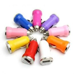 Color auto Charger online shopping - USB Car Chargers V A Candy Color Bullet Universal Auto Vehicle Metal Charger Adapter Car Interior Accessories OOA6259