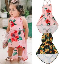 $enCountryForm.capitalKeyWord NZ - Flower Kids Baby Girl Off-shoulder Strap Ruffle Summer Sunflower Dress Backless Party Pageant Dress Sundress 1-6y