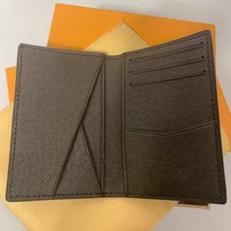 Hip Hop purses online shopping - Excellent Quality Pocket Organiser NM damier graphite M60502 mens Real leather wallets card holder N63145 N63144 purse id wallet bifold bags