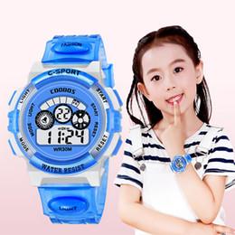 $enCountryForm.capitalKeyWord Australia - Digital Kids Watches Sports Children's Wrist Watch Multifunction Colorful Light Waterproof Student Electronic Watch Dropshipping