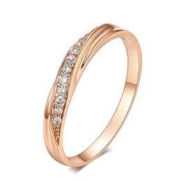 $enCountryForm.capitalKeyWord Australia - Luxury Austria Crystal Rose Gold Ring New Arrival Plated Gold Shining Diamond