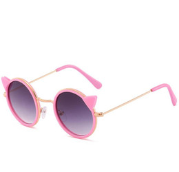 sun glasses for kids NZ - Wholesale-Cat Eye Designer Sunglasses for Children Girl Boy Cute Sun Glass Kids Gradient UV400 Lovely Eyewear
