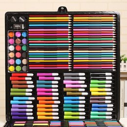 price tools Australia - Promotional price direct sales 288 luxury painting gift box set painting tools art supplies training class gift batch