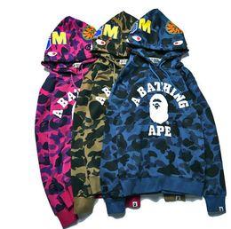 0456e5c94f168 Bape shark jacket online shopping - kanye west r Hoodie Men s A Bathing  AAPE Ape