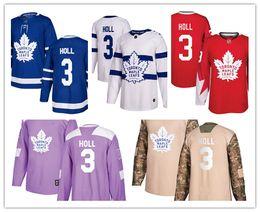 Men S Winter Gear Australia - Toronto Maple Leafs jerseys #3 Justin Holl jersey ice hockey men women blue white red Authentic winter classic Stiched gears Jersey