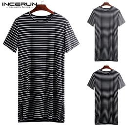 $enCountryForm.capitalKeyWord Australia - 2019 Men Sleepwear Striped Sleep Tops Loose O Neck Short Sleeve Leisure Comfortable Homewear Men Nightwear S-5XL INCERUN