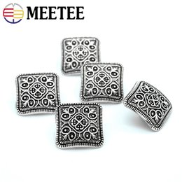 jean buttons wholesale NZ - Meetee Metal Shanked Buttons Antisilver Pattern Engraved Silver Tone Jeans Buttons Sewing Buttons Clothing Crafts Accessories C2-61