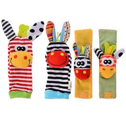 $enCountryForm.capitalKeyWord Australia - Newest Wrist Rattles Hands Foots Finders Baby Infant Soft Toy Baby Socks Wristand Cute Enducation Development Toys