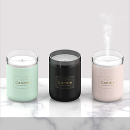 Light candLes online shopping - 280ML Ultrasonic Air Humidifier Candle Romantic Soft Light USB Essential Oil Diffuser Car Purifier Aroma Anion Mist Maker