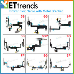 Iphone Plus Volume Flex Australia - Original New Power Volume Flex Cable with Metal Bracket for iPhone 8 8plus 7 7plus 6s 6s plus 6 6plus 5s Spare Parts