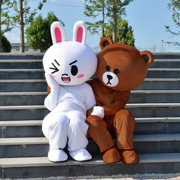 Doll Brown Australia - Kawaii big brown japanese style rilakkuma Mascot costume plush toy teddy bear stuffed animal doll birthday gift free shipping