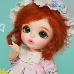 Ooak Bjd Lady For 1:12 Doll House Red Hair Dressed
