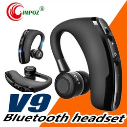 mic business Canada - high quality V9 Bluetooth earphone CSR 4.1 Business Stereo Earphones With Mic Voice Control Wireless earphone with package