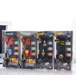 Toptan satış Marvel çizgi film MP3 kulaklık Iron Man Batman Kaptan Amerika Kulaklıklar Cep Bilgisayarı Evrensel Kulaklık Noel Hediyesi