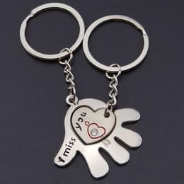 Heart Shaped Handbags Wholesale Australia - Hand Shape Interesting Keyring Heart Handbag Charms Purse Keychain for Women
