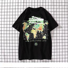 $enCountryForm.capitalKeyWord Australia - Men's fashion luxury Tshirt designer Stussts brand men's Tshirts world map color printing T-shirt high quality street hip hop T-sh