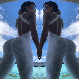 7 Cores Womens Suit Yoga Uma peça de fitness Calças mangas Sports Slim Fit respirável Yoga Clothes Tracksuits interior roupas de ginástica em Promoção