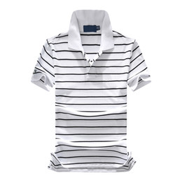 af809b61f Mens Brand Polo Shirt Green Thin Stripes Embroidery Short Sleeve Polos Slim  Fit Summer Male Turn Down Neck T Shirt Free Shipping