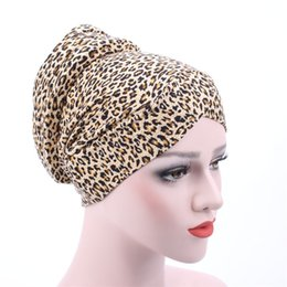 $enCountryForm.capitalKeyWord Australia - Women Warm Cotton Sponge Leopard Cross Turban Hat Cancer Chemotherapy Chemo Beanies Caps Headwrap Hair Loss Accessories