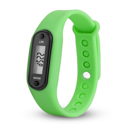 $enCountryForm.capitalKeyWord Australia - Digital LCD Silicone Wirstband Pedometer Run Step Walking Distance Calorie Counter Wrist Women&Men Sport Fitness Watch Bracelet