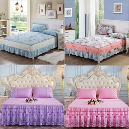 $enCountryForm.capitalKeyWord Australia - Bedspread Coverlet sets Pillowcases - Hypoallergenic, Box Stitched Down Alternative Bed Skirt (King, Blue)