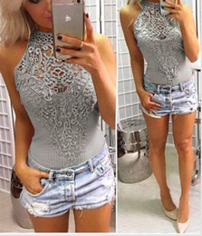 $enCountryForm.capitalKeyWord Australia - S M L XL Sleeveless Lace Bodysuit Women Sexy One Piece Outfit Bodycon Short Rompers Summer Jumpsuits Body Tops overalls DY17620