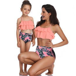 $enCountryForm.capitalKeyWord Australia - Matching Family SwimwearMother Girl Bikini Swimsuit For Mom and Daughter Swimsuits Female Children Baby Kid Beach Bathing Suits