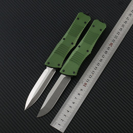 Knifes D2 Australia - Army Green Battle Automatic knife (D2 steel) CNC Outdoor EDC Fishing Hiking Tactical Combat Hunting Straight out blade knives Hunting knife