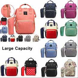 eco diaper bags NZ - 10Styles Mommy Backpacks Mother Pack Nappies Diaper Bags Camo Waterproof Maternity Handbags Nursing Travel Outdoor Storage Bags 20pcs AAA78