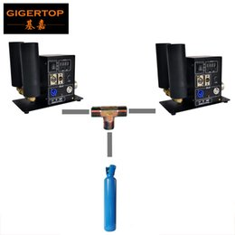 hose connecting Canada - Gigertop T connection Gas Hose Double Pipe LCD Display Pro CO2 Jet Machine Power IN OUT Connect DMX512 Manual Control New Solenoid Valve