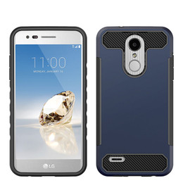 alcatel hard phone cases 2020 - Carbon Fiber Design Rugged Hard Armor Phone Case For Motorola MOTO G7 G7 power Alcatel 1X Evolve TPU PC Oppbag