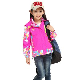 Jackets For Autumn Australia - Spring Autumn Girls Jackets Brand Hooded Cold-proof Children Outerwear Coats 4-10 Years Kids Casual Clothing For Girls Casacos