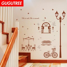 $enCountryForm.capitalKeyWord Australia - Decorate Home light bike cartoon art wall sticker decoration Decals mural painting Removable Decor Wallpaper G-2322