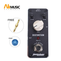 pedal tone UK - Aroma ADT-3 Distortion AC DC Adapter Jack True Bypass Guitar Level Tone Gain Knob Pedal Switch
