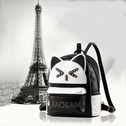 $enCountryForm.capitalKeyWord Australia - Designer-Backpacks Women Custom Stylish cartoon Bags Panda Kid's School Bag For Boys Girls Black Leather Backpack Mini Schoolbag