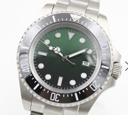$enCountryForm.capitalKeyWord Australia - 44MM Automatic Silver Stainless Steel Bracelet Date Mens Watches Green Dial With A Ceramic Top Ring Luminous Hands and Dot Hour Markers