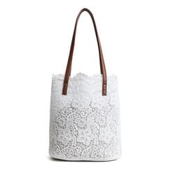 Ladies Lace Handbags Australia - good quality Women Shoulder Bag Fashion Big Lace Female Handbag Lady Floral Totes Women Shopping Bag Ladies Summer Casual Totes