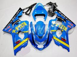 Kit Rizla Fairings NZ - New ABS Plastic Motorcycles Fairings Kit Fit For Suzuki GSXR600 GSXR750 GSX-R600 R750 04 05 K4 2004 2005 fairing kits custom blue RIZLA+
