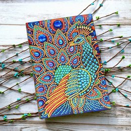 $enCountryForm.capitalKeyWord Australia - Zooya Diy animal peacock 5d Special Diamond Painting Notebook Diamond Embroidery Notebook Diamond Mosaic A5 Diary Book Picture Gift NB33