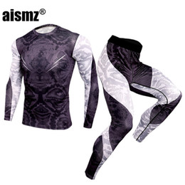 winter underwear for mens Australia - Aismz New Winter Men Thermal Underwear Sets Elastic Warm Fleece Long Johns For Mens Leggings Breathable Thermo Underwear Suits SH190927