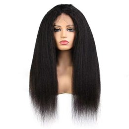 $enCountryForm.capitalKeyWord Australia - Front Lace Wig Indian Kinky Straight Virgin Human Hair Swiss Full Lace Wigs 10A 100% Real Hair Pieces Product Natural Looking Best Celebrity