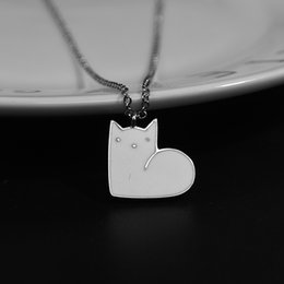 $enCountryForm.capitalKeyWord Australia - New Style Hot Sale Simple Fashion Japanese Wind Forest Cute Cat Silver Necklace Jewelry Gifts for Women